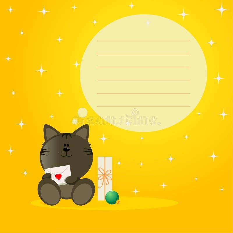 Bożenarodzeniowy Kot ilustracji