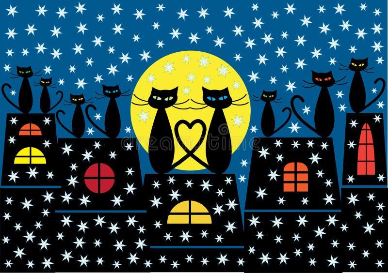 Bożenarodzeniowy kota tło ilustracja wektor