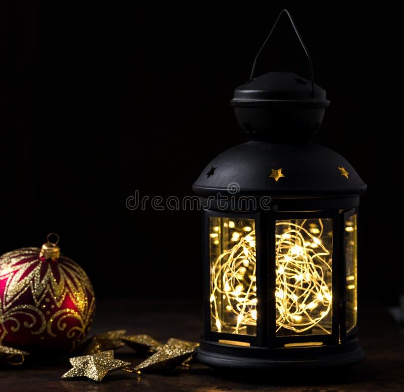 Bożenarodzeniowy lampion obrazy royalty free