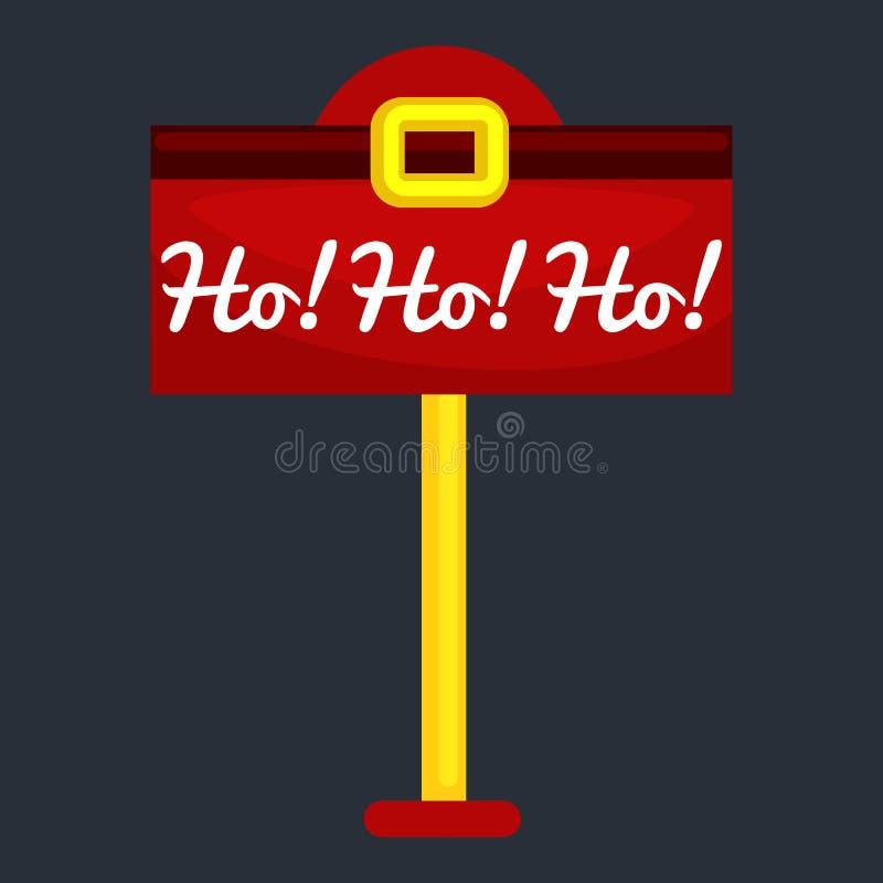 Bożenarodzeniowy listowy pudełko Santa odizolowywał, Święty Mikołaj xmas poczta dostawy postbox wektor, hohoho ilustracji