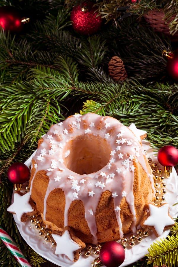 Bożenarodzeniowy Madeira tort zdjęcie royalty free