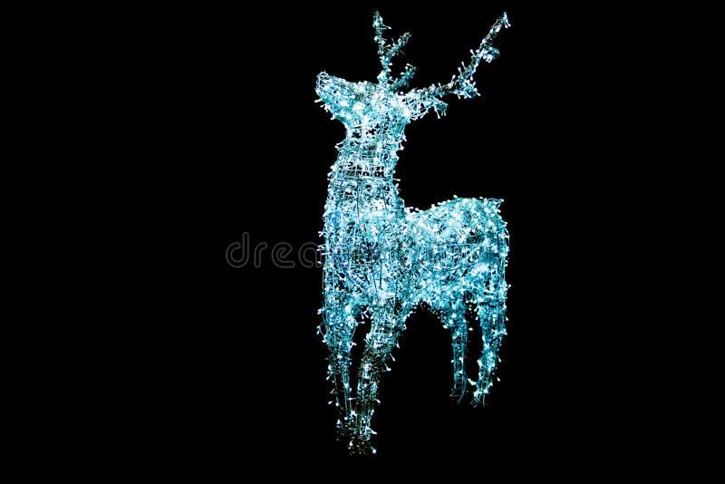 Bożenarodzeniowy ornamentu rogacza światło fotografia royalty free
