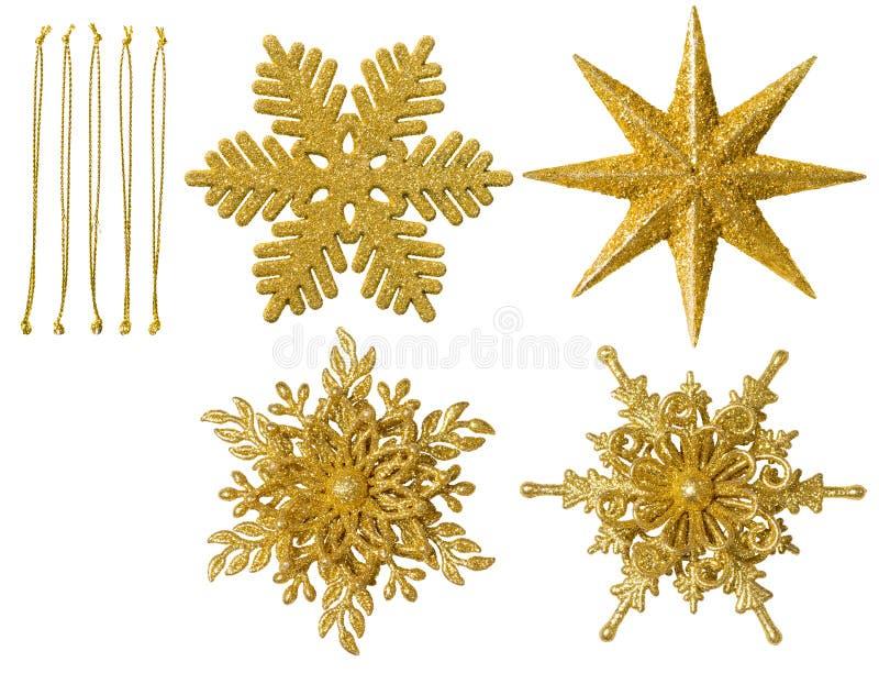 Bożenarodzeniowy płatek śniegu Odizolowywająca dekoracja, Wisząca Śnieżna płatek zabawka obraz royalty free