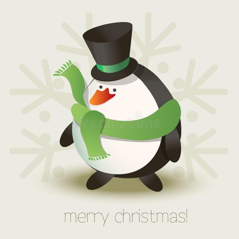 Bożenarodzeniowy pingwin royalty ilustracja