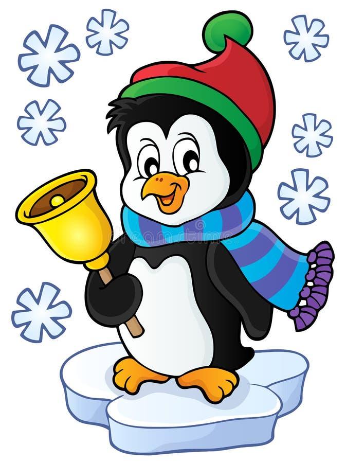 Bożenarodzeniowy pingwinu tematu wizerunek 1 royalty ilustracja