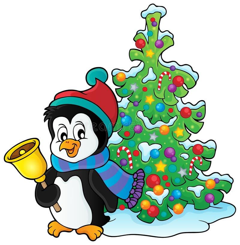 Bożenarodzeniowy pingwinu tematu wizerunek 3 royalty ilustracja