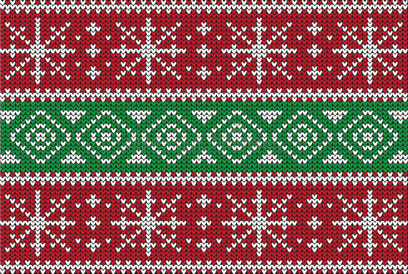 Bożenarodzeniowy puloweru projekt bezszwowy wzoru ilustracja wektor