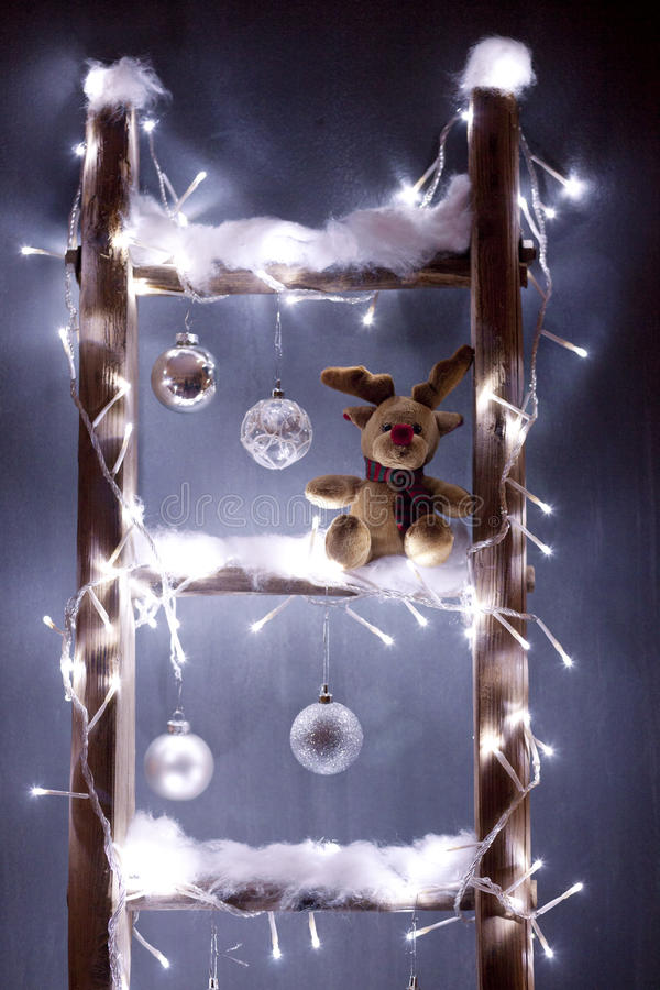 Bożenarodzeniowy reniferowy Rudolf zdjęcie stock