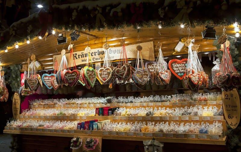 Boże Narodzenia Wprowadzać na rynek w Drezdeńskim zdjęcie stock