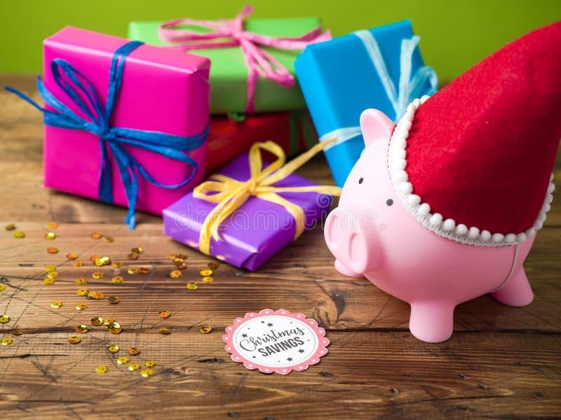 Bożenarodzeniowy savings pojęcie zdjęcia royalty free