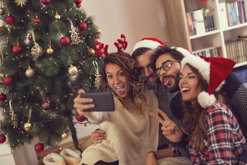 Bożenarodzeniowy selfie zdjęcia stock