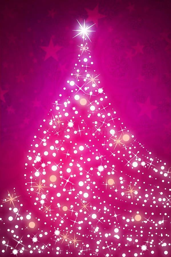 Bożenarodzeniowy sparkly drzewny tło ilustracja wektor