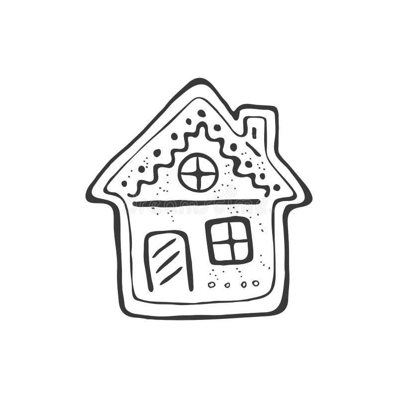 Bożenarodzeniowy symbolu doodle royalty ilustracja