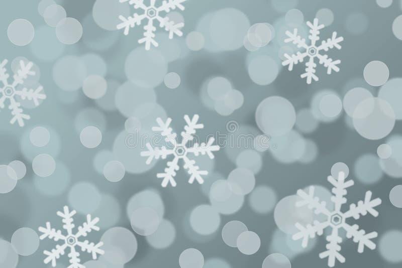 Bożenarodzeniowy tło zamazani i plama płatki śniegu zdjęcia stock