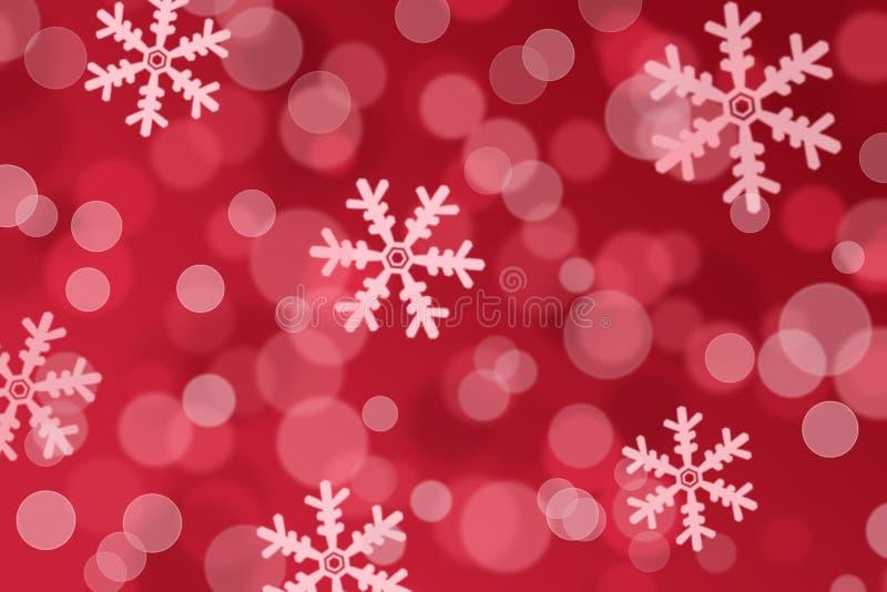 Bożenarodzeniowy tło zamazani i zamazani płatki śniegu zdjęcia stock