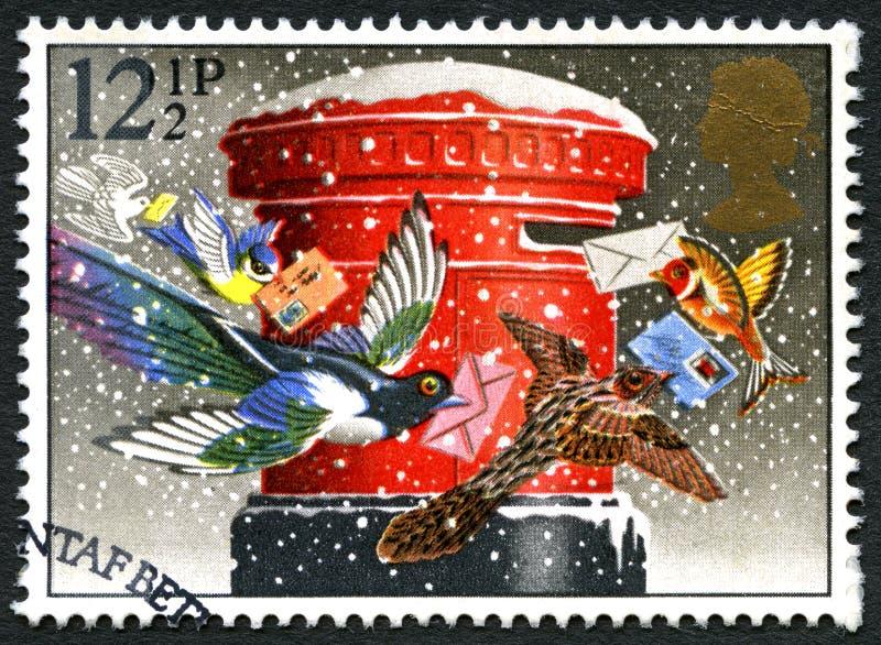 Bożenarodzeniowy UK znaczek pocztowy zdjęcie stock