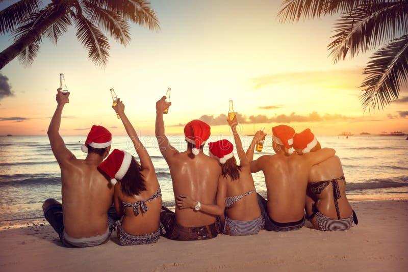 Bożenarodzeniowy wakacje na tropikalnym wakacje zdjęcie royalty free