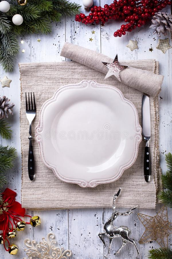 Bożenarodzeniowy wakacyjny obiadowy tło zdjęcia stock
