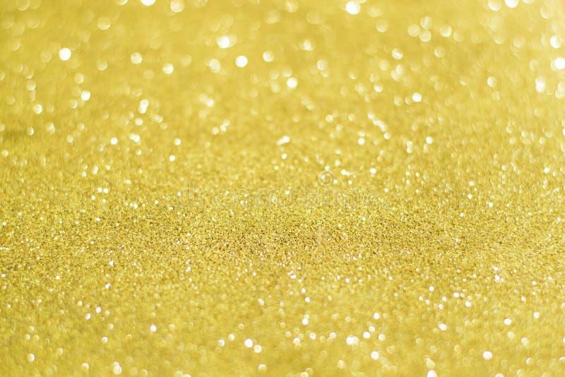 Bożenarodzeniowy Złoty Błyskotliwy tło Wakacyjny Złocisty abstrakcjonistyczny tex zdjęcie stock
