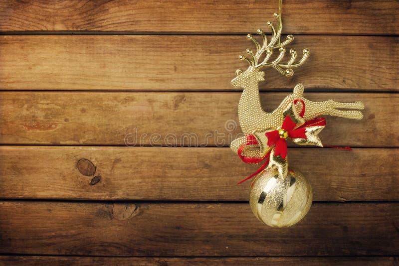 Bożenarodzeniowy złoty rogacza ornament obraz royalty free