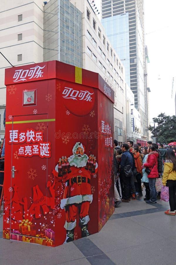 Bożenarodzeniowy zakupy w Chengdu zdjęcie royalty free