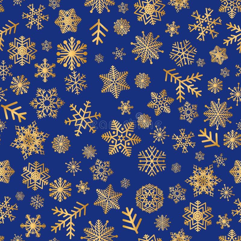 Bożenarodzeniowych ikon śnieżny bezszwowy wzór, Szczęśliwa zima wakacje płytka royalty ilustracja