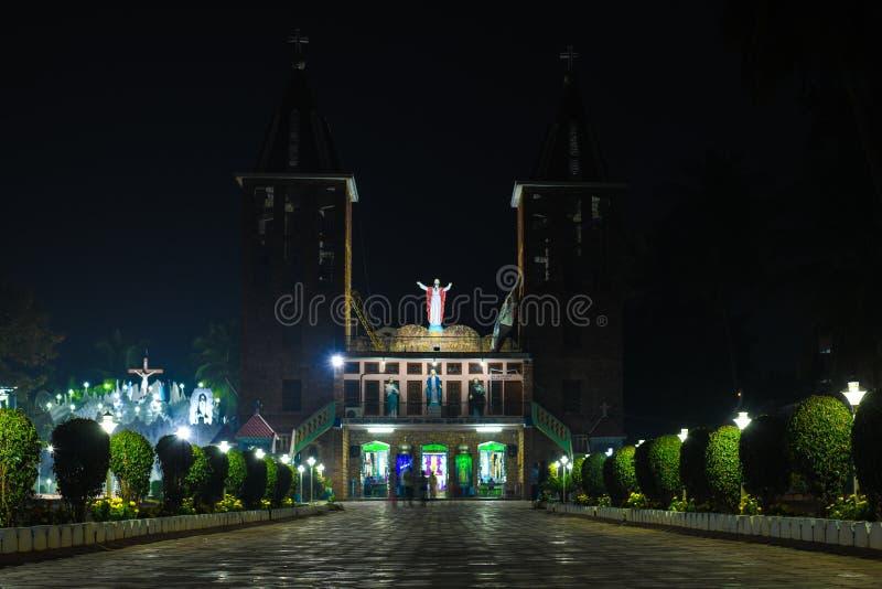 Bożenarodzeniowych kościelnych ind Jesus świątyni religijny tło zdjęcia royalty free