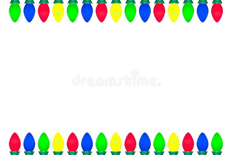 Bożonarodzeniowe Światła żarówki granica zdjęcia stock