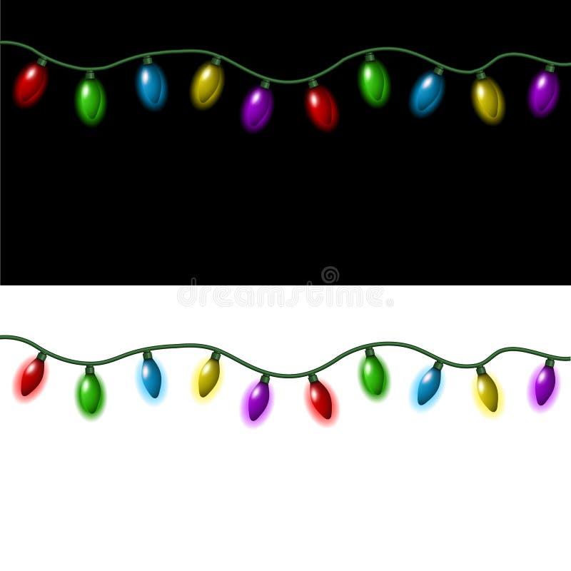 Bożonarodzeniowe światła ilustracji