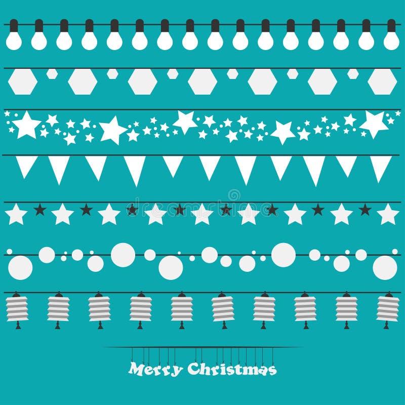 Bożonarodzeniowe Światła ilustracja wektor