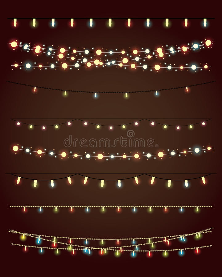 Bożonarodzeniowe Światła royalty ilustracja