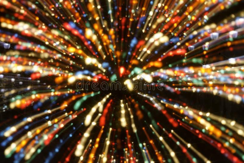 Bożonarodzeniowe Światła abstrakta tła obrazy stock