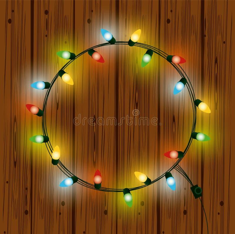 Bożonarodzeniowe światła dla dekoracji ilustracja wektor
