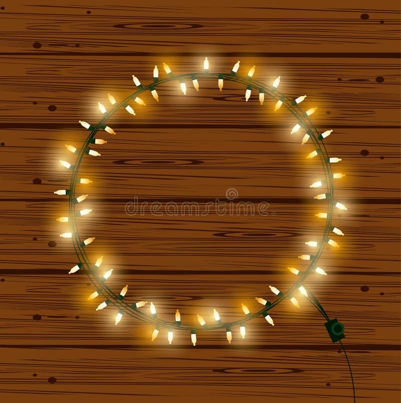 Bożonarodzeniowe światła dla dekoracji ilustracji