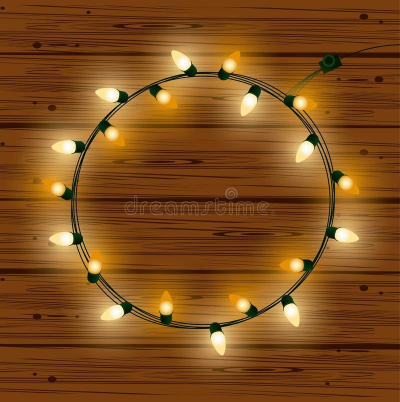 Bożonarodzeniowe światła dla dekoracji royalty ilustracja