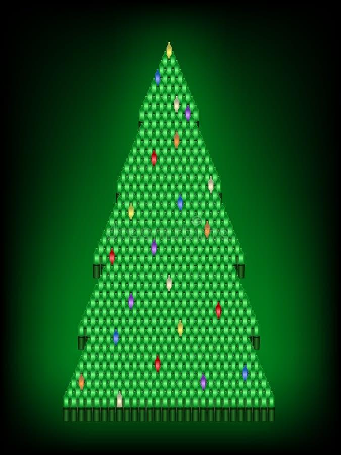 bożonarodzeniowe światła drzewo royalty ilustracja