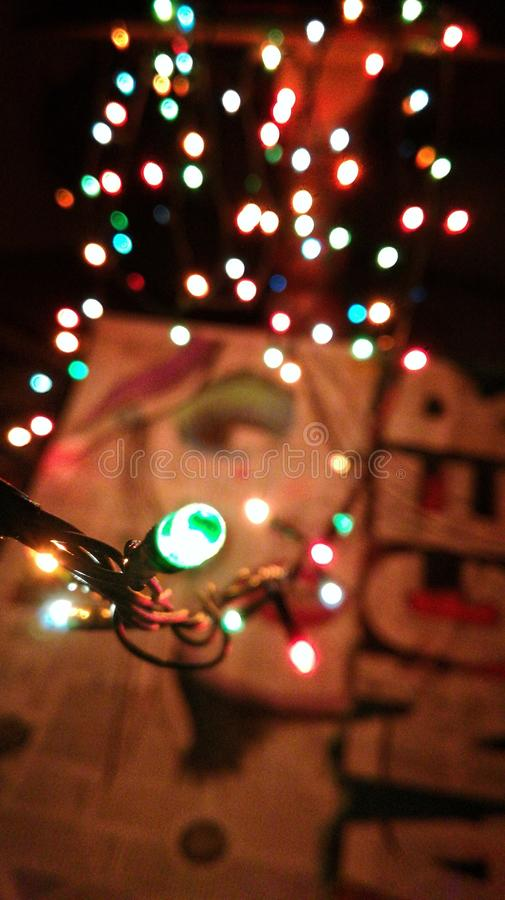 Bożonarodzeniowe światła malować obrazy royalty free