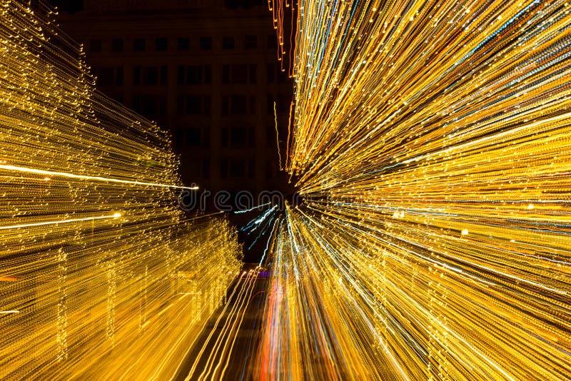 Bożonarodzeniowe światła promienie zdjęcia stock