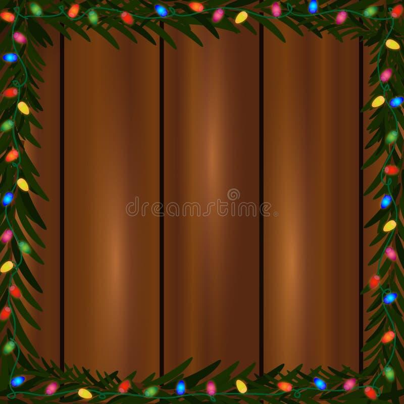 Bożonarodzeniowe światła rama royalty ilustracja