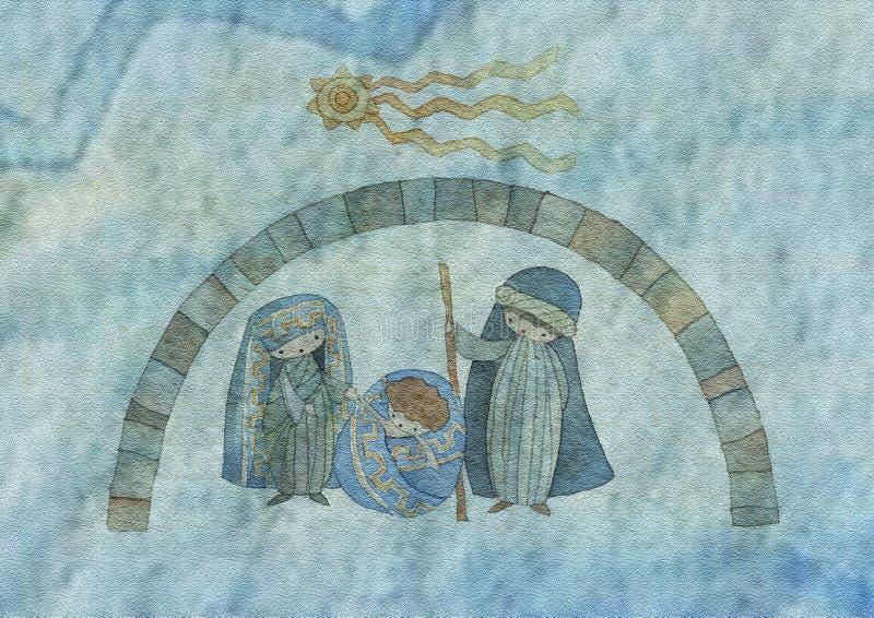 bożych narodzeń ściąga tekstura royalty ilustracja