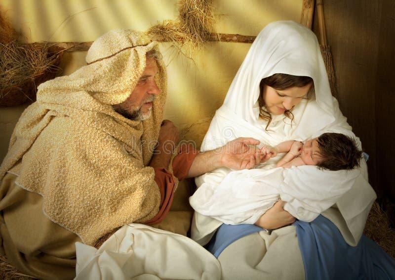 bożych narodzeń żłobu narodzenie jezusa obraz stock