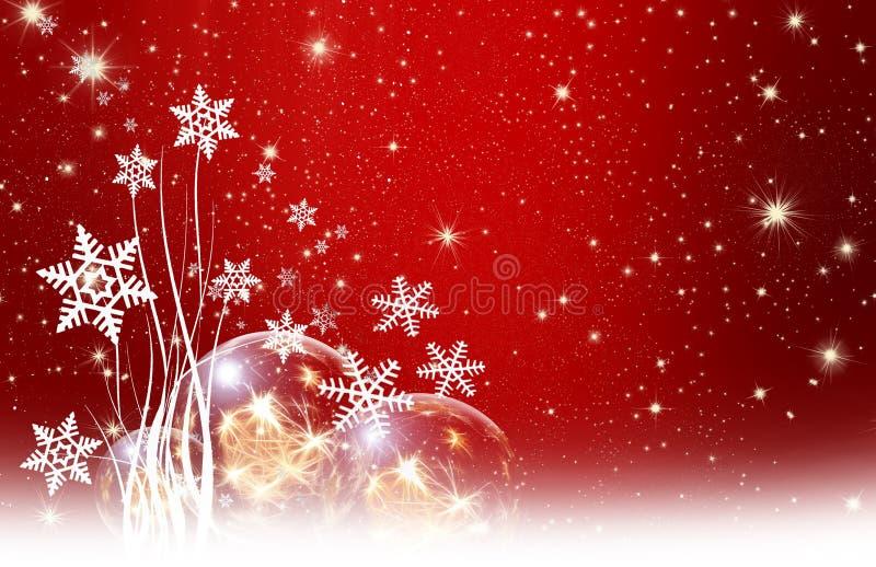 Bożych Narodzeń życzenia, gwiazdy, tło ilustracja wektor
