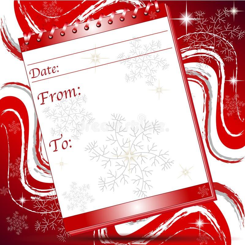 Bożych Narodzeń bloku notatki strona z płatek śniegu royalty ilustracja