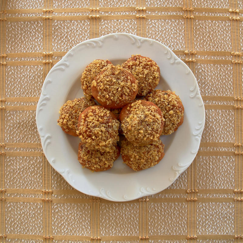 bożych narodzeń ciastek grka melomakarona obraz stock