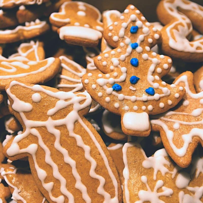 bożych narodzeń ciastek miodownik zrobił pałac cukierkom Tradycyjni domowej roboty handmade Czescy cukierki - miodowniki zdjęcia stock