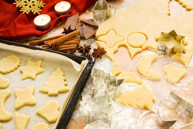 bożych narodzeń ciastek przygotowanie zdjęcie stock