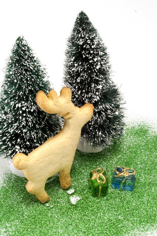 bożych narodzeń ciastka sceny drzewo zdjęcie royalty free