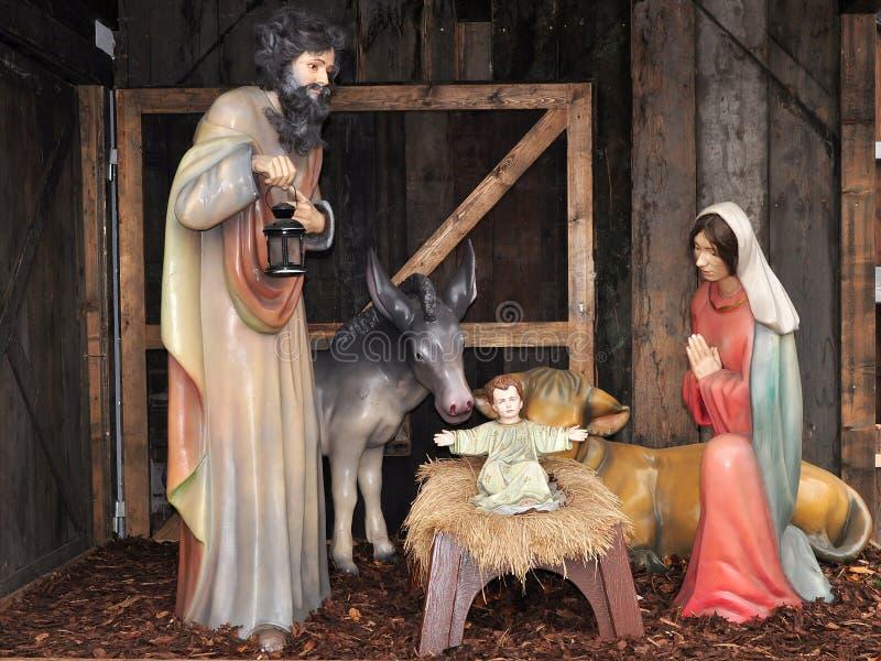 bożych narodzeń creche czas zdjęcia stock
