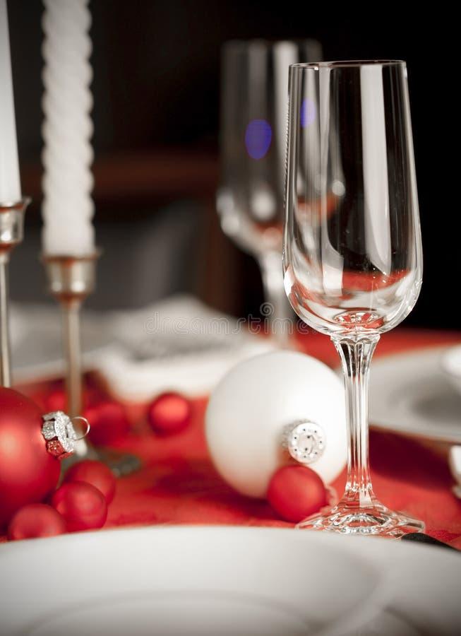 bożych narodzeń czerwony położenia stołu biel zdjęcia royalty free