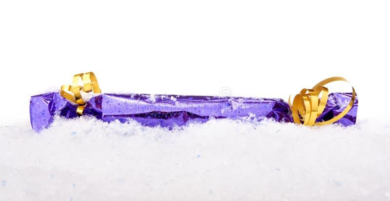 bożych narodzeń dekoraci śnieg obraz stock
